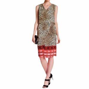 Kobi Halperin Silk Leopard Print Livia Dress NWT